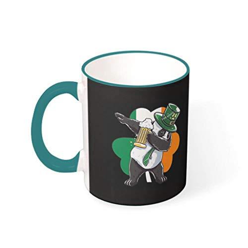 Fineiwillgo Taza de café St Patricks de porcelana, con asa multicolor, taza de café, regalo común, para camping, té de 330 ml