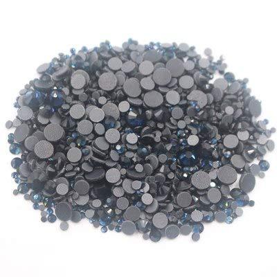 Astonish 2500pcs Mix Größe Strass Shiny Crystals Strass Fest Kleber Zurück Glaskristall-Fabric Crafts Hotfix Strasssteine ??für Kleidung: Montana, 1000PCS