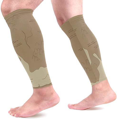hgdfhfgd Alte Karte Wadenkompressionshülsen Schienbeinschienenstütze Beinschützer Wadenschmerzlinderung beim Laufen, Radfahren, Reisen, Sport für Männer Frauen (1 Paar)