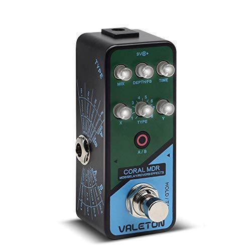 Valeton Coral MDR Digital Chorus Modulation Delay Reverb Multi Effects Guitar Pedal