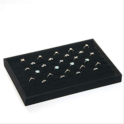 Manyao Storage Organiser Rack Hanging Jewelry Organizer Box Black Flannel Earrings Earring Tray Jewelry Storage Box Bracelet Display Stand