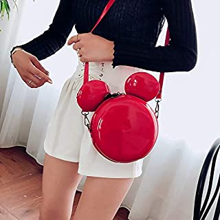 Adebie - Cartoon New Fashion Design Women Mouse Shaped Bag Cute Funny Women Evening Bag Clutch Purse Chain Shoulder Bag for Birthday Gift Red