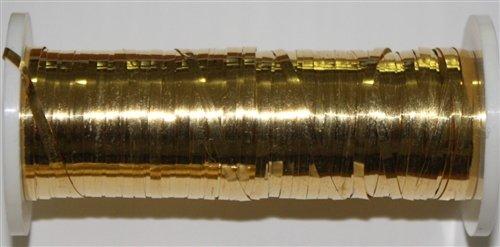 Gilt No. 6 BROADPLATE ~ 36' Total Length - Metal Goldwork Thread