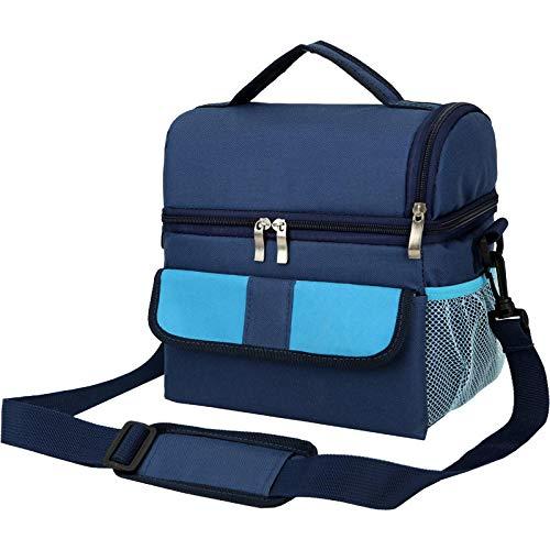Bolsa de hielo con aislamiento de doble capa, bolsa de leche con respaldo frío, picnic multifuncional como bolsa de almuerzo de hombro a hombro