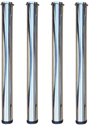 Patas de mesa de cristal, patas de mesa de café, patas de mesa de café, soportes, barras de apoyo, patas de muebles con pastel de aluminio, cuatro patas duraderas (tamaño: 75 cm)