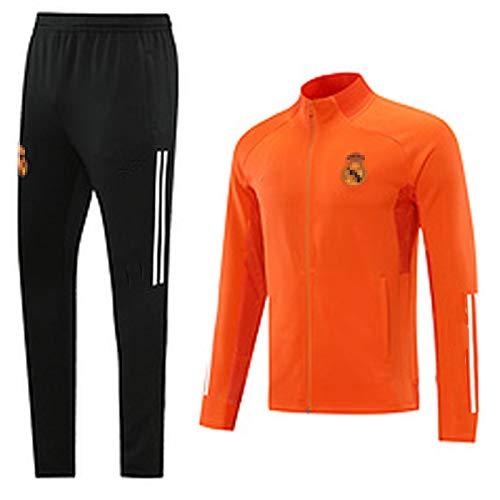 CCJJ Traje de Entrenamiento de fútbol Rěǎl MǎDrǐD ZǐDǎNě 2021 Jersey de fútbol Conjunto de Manga Larga Sportswear Equipo Profesional Uniformes Sudadera Bordada, Agradable XL