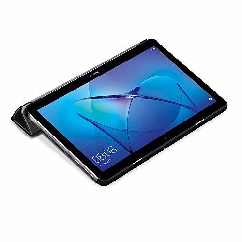 EasyAcc Hülle für Huawei Mediapad T3 10 Hülle, Ultra Schlank Schutzhülle Case mit Zwei Einstellbarem Standfunktion Für Huawei MediaPad T3 10 (9,6 Zoll), Schwarz - 4