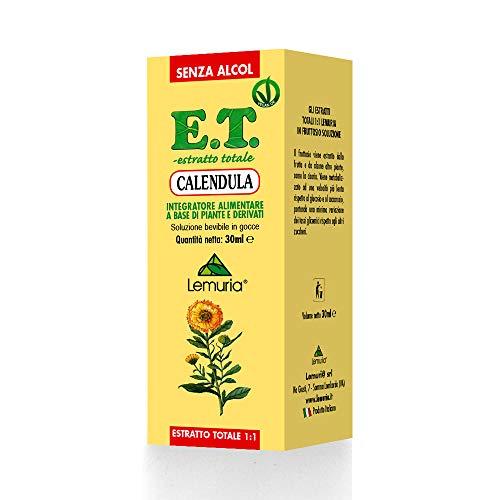 Lemuria Estratto Totale 1:1 di Calendula senza Alcol in Soluzione di Fruttosio 70% - 30 ml