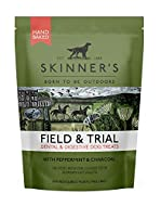 Skinner's Field & Trial Dog Treats - Dental & Digestive with Peppermint & Charcoal, 90g x 8 Pouches