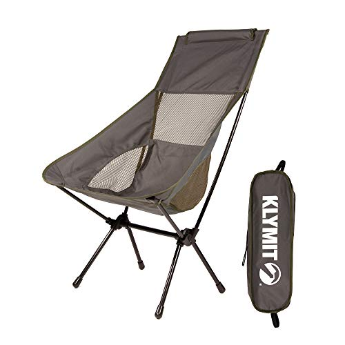 KLYMIT Timberline Camp Chair, Lightweight Backpacking Chair, Travel-Friendly, Comfortable, Durable Design, 225 lbs Capacity