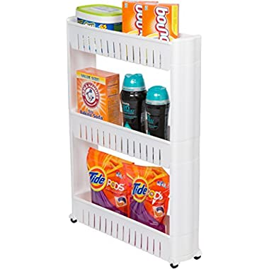 Trademark Innovations 28  Slim Slide Out Storage Tower for Laundry, Bathroom, or Kitchen