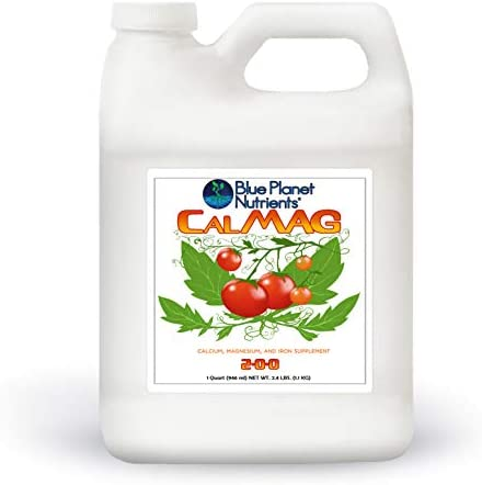 CalMag w/Iron Liquid Plant Supplement (128 oz) Gallon | Calcium Magnesium Iron for All Plants & Gardens | Corrects & Prevents Common Plant Deficiencies | Blue Planet Nutrients