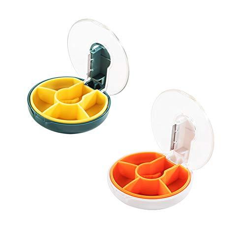 Pillerlåda/Bärbar pillerbox/medicinlåda fuktsäker piller för vitaminer/fiskoljor/perfekt fuktsäker design (2 delar)