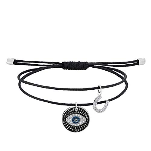 Swarovski Pulsera unisex Evil Eye, multicolor, acero inoxidable