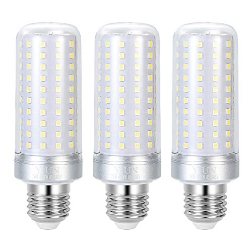 YIUN E27 LED-Kerzenlampen, 26 W LED-Kandelaber-Glühbirnen, 180 Watt-Äquivalent, 2200 lm, kaltweiße 6000 K,nicht dimmbare LED-Lampe, 3er-Pack