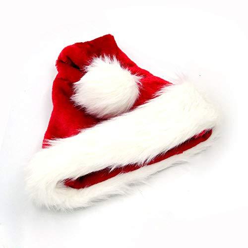 SSRSHDZW Weihnachtsmütze Weihnachtsdekoration Geschenk Plüsch Weihnachtsmütze Hochwertigen Flauschigen Hut Weihnachtsfeier Weich Und Bequem 40X28cm