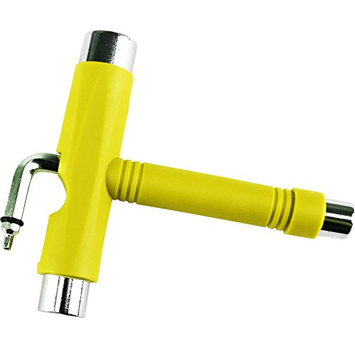 Cal 7 Big Boy All-in-One Multifunction Skate Tool T-Tool (Yellow)