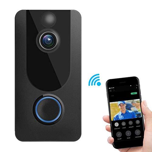 Timbre De Video Inteligente, WIFI 1080P Visión Nocturna Vigilancia A Prueba De Lluvia El Timbre Admite Detección De Movimiento PIR, Video Portero