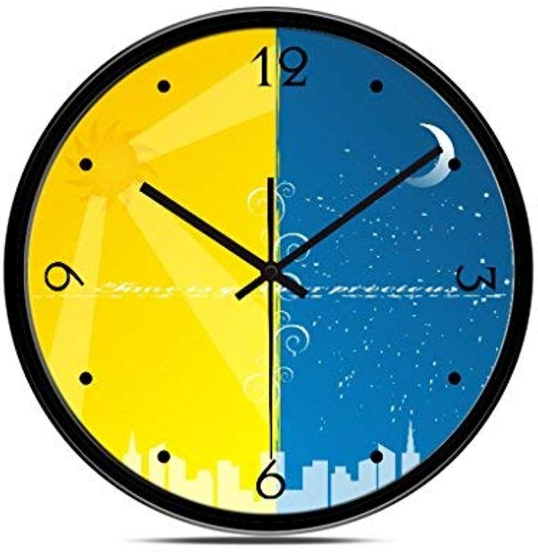 ZHAS Habitación de los Niños Reloj de Parojo silencioso, Sala de Estar Tienda de Ropa del Hotel Cafetería Gimnasio Oficina Balcón Restaurante Reloj de Parojo Acero Inoxidable Reloj de Parojo 35
