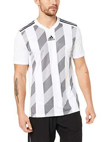 adidas Striped 19 JSY Camiseta de Manga Corta, Hombre, White/Black, 1112
