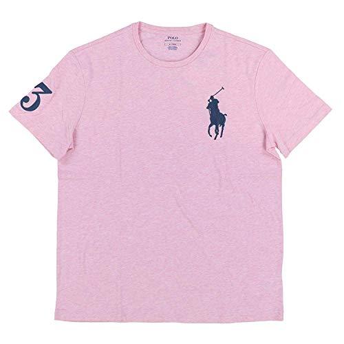 Polo Ralph Lauren Mens Crew Neck Big Pony T-Shirt (XXL, Pink)