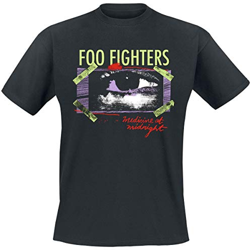 Foo Fighters Medicine At Midnight Taped Uomo T-Shirt Nero S 100% Cotone Regular