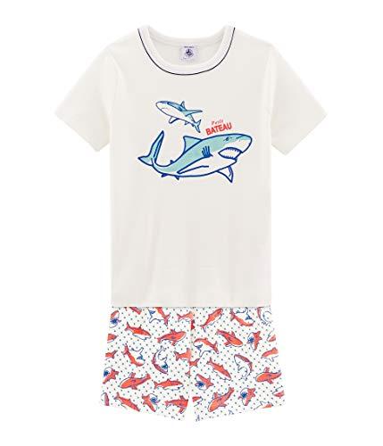 Petit Bateau 5499301 Pantalones de Pijama, Multicolor (Marshmallow/Multico Bfq), 2 años para Niños