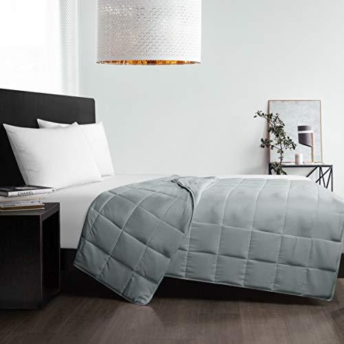 Well Being Kühlende gewichtete weiche Decke mit Coolmax-Technologie, grau, 121,9 x 182,9 cm, 6,8 kg