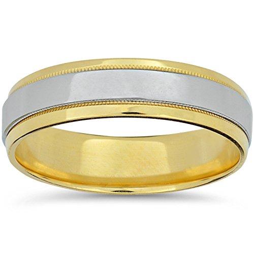 Para hombre 950Platinum & Comfort Fit Banda de boda en oro 18K
