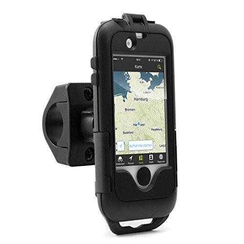 Arendo - wasserdichte Fahrradhalterung für Apple iPhone 4 4S - Fahrrad Case Tasche - Handy Smartphone-Halterung - einfache Bedienung - sichere Befestigung