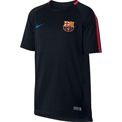 Nike BRT Sqd SS T-Shirt FC Barcelone pour Enfants S Noir (Noir/Rouge (University Red) / Soar)