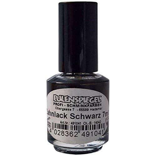 Eulenspiegel 491041 - Zahnlack, schwarz,7ml in Pinselflasche