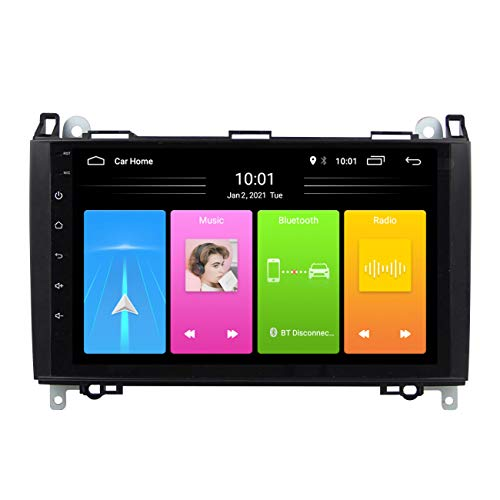 Radio de coche, Reproductor multimedia Android 10 Auto Radio estéreo para Mercedes Benz B W245 B150 B160 B170 B180 B200 B55 2004-2012, con cámara de marcha atrás,Wifi 2g+32g