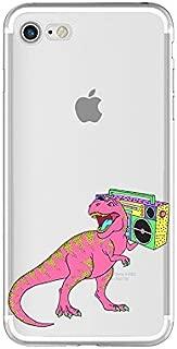 iPhone 8 Plus Case/iPhone 7 Plus Case(5.5inch),Blingy's Fun Dinosaur Design Transparent Clear Soft Protective Case for iPhone 8 Plus/iPhone 7 Plus (Retro Dinosaur)