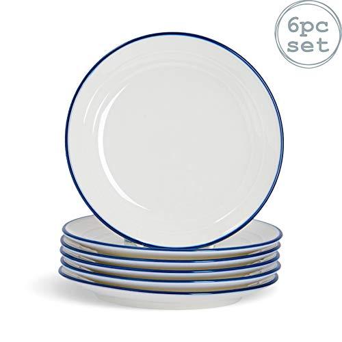 Nicola Spring Farmhouse - Dessertteller - Weiß/Blau - 21 cm - 6 Stück
