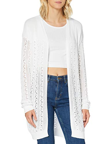 Superdry Bella Pointelle Cardigan Gilet, Blanc (Chalk White Fu4), S (Taille Fabricant:10) Femme