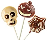 No Whey Foods - Halloween Lollipop Collection (3 Lollipops) - Allergy Friendly and Vegan Chocolate Halloween Candy - Dairy Free, Nut Free, Peanut Free, Soy Free, Gluten Free