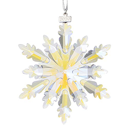 XIANGBAN Fantasy Elf Pendant, Crystal Snowflake Christmas Ornaments Annual Collectible (Colorful)