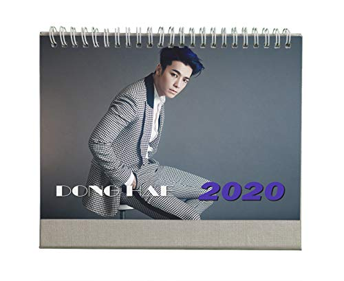 Fanstown Kpop Super Junior 2020 Desk Calendar Fanmade with lomo Cards