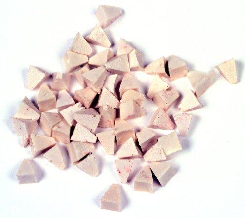 Raytech 41-131 Light Cut Pyramids Plastic Media, 55 lbs/cu ft Density, 1/4