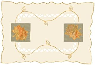 Heritage Lace 14-Inch by 20-Inch Harvest Sheer Placemat, Cream, Set of 2