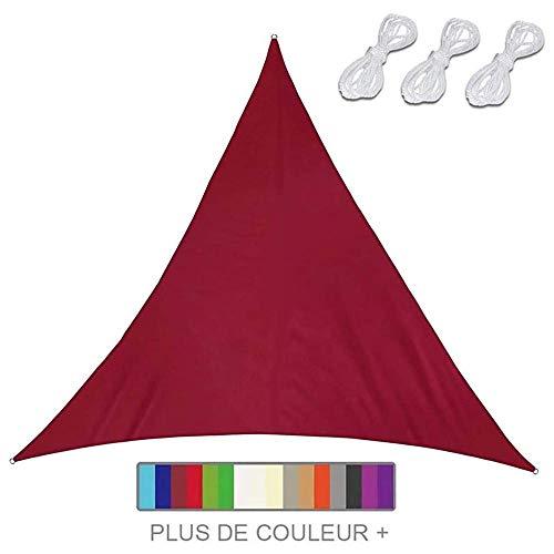 Vela Sombra Triangular, Sombra Sombra Protección Solar Protección Contra Clima Con Protección UV, Triángulo Sombra Sombra, Para Exteriores, Patio, Camping Con Terraza El Jardín,Red-4X4X4m