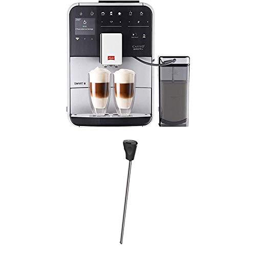Melitta Caffeo Barista TS Smart F850-101 Kaffeevollautomat mit Milchbehälter | Smartphone-Steuerung mit Connect App | One Touch Funktion Silber + Milchlanze für Kaffeevollautomaten, Edelstahl, Schwarz