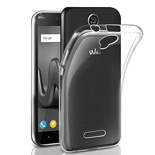 REY - Funda Carcasa Gel Transparente para WIKO Harry, Ultra Fina 0,33mm, Silicona TPU de Alta Resistencia y Flexibilidad