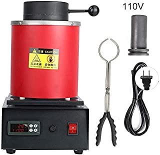 1KG/2KG Electric Melting Furnace Gold Digital Automatic Smelter for Metal Jewelry Silver Copper Casting 1400W 1100℃
