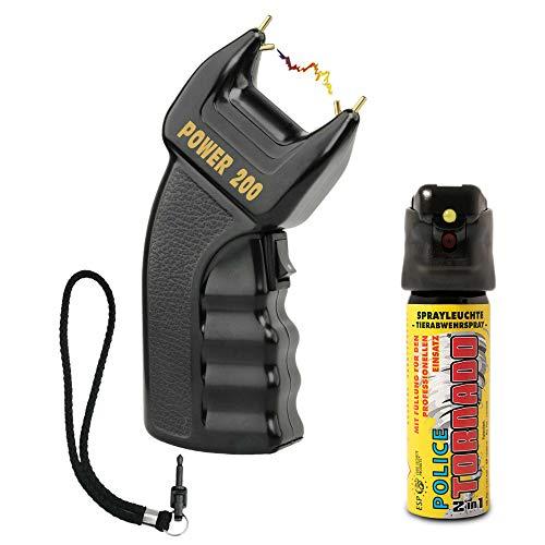 SHD - Elektroschocker 500.000 Volt mit PTB Zulassung - Power Abwehr Stun Gun frei verkäuflich ab 18 Jahren mit Sicherheitsschalter