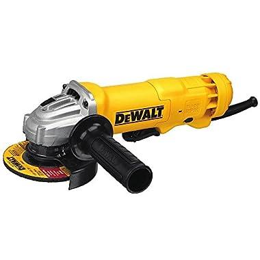 DEWALT Angle Grinder Tool, Paddle Switch, 4-1/2-Inch, 11-Amp (DWE402)