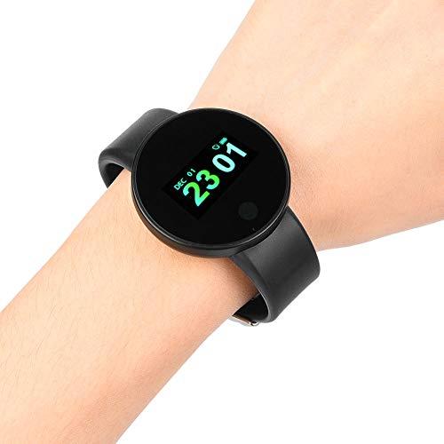 Q-HL Smartwatch Reloj Inteligente Fitness Tracker Touch Screek Smart Watch Pulsera Pulsera Tarifa Fitness Rastreadores Monitor De Sueño para Boys Girls Regalo - Negro