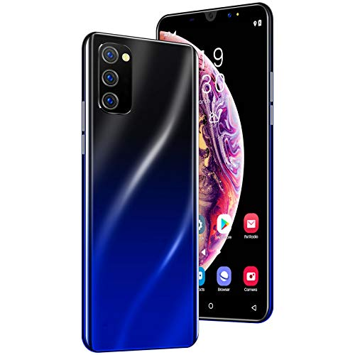 Smartphone, Móviles Libres 4G 8GB + 128GB Android 9.1, Teléfono Móvil 5.0 Inch Pantalla De Gota De Agua, Cámara 16MP+8MP, 3800mAh Smartphone Libre, Face ID& Huellas Dactilares