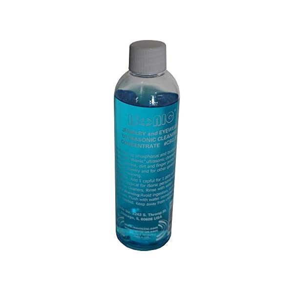iSonic Ultrasonic Jewelry/Eye Wear Cleaning Solution Concentrate